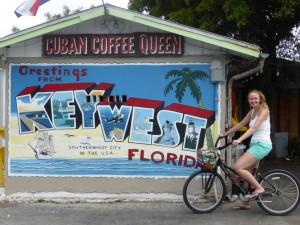 Buntes Bild an einer Hauswand in Key West