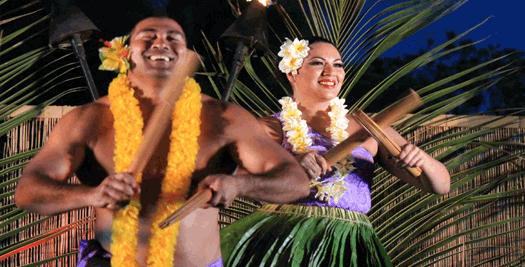 Tanz von Einheimischen auf Hawaii