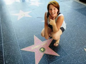 Unterwegs auf dem Walk of Fame in Los Angeles