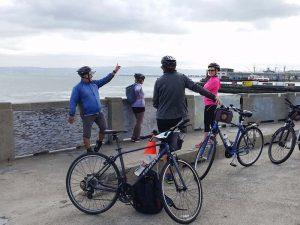 Pause während einer Fahrradtour durch San Francisco