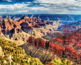 Aussicht vom Helikopter über den Grand Canyon