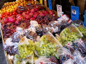 Obststand in Chinatown in San Francisco