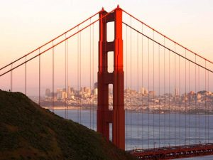 San Francisco Skyline von den Marin Headlands