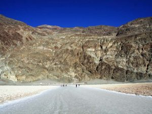 Salzsee in Badwater im Death Valley