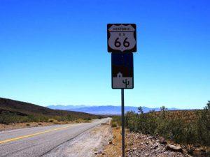 Schild an der Route 66