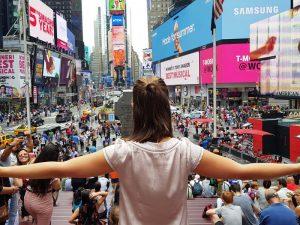 Das bunte Treiben auf dem Times Square