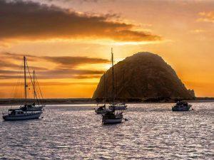Sonnenuntergang im Hafen von Morro Bay