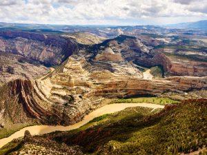 Blick auf das Dinosaur National Monument