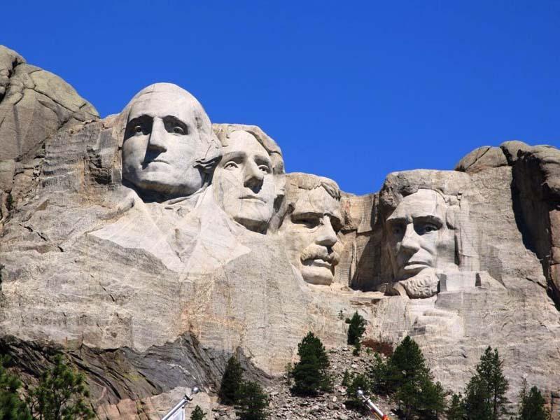Blick auf den Mount Rushmore