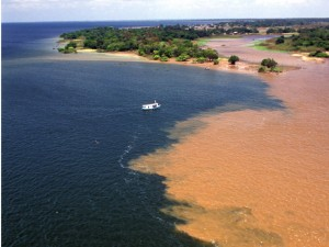 Zwei Flüsse vereinen sich zum Amazonas