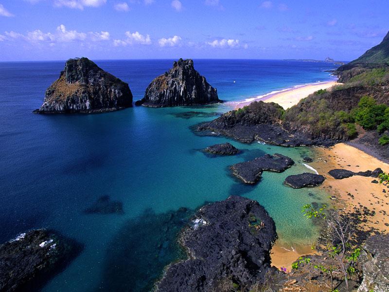 Einsame Bucht auf Fernando de Noronha