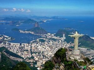 Rio aus der Vogelperspektive