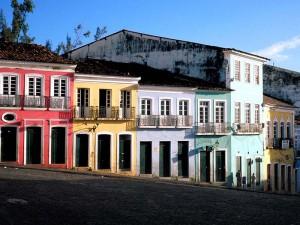 bunte Häuser auf dem Pelourinho