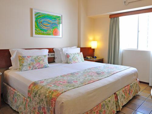 Ein gemütliches Zimmer im Standardhotel in Recife