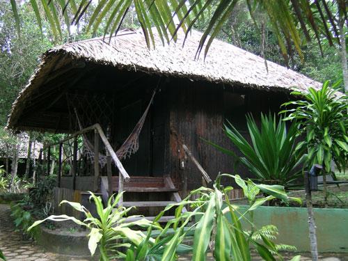 Außenansicht Amazonas Lodge