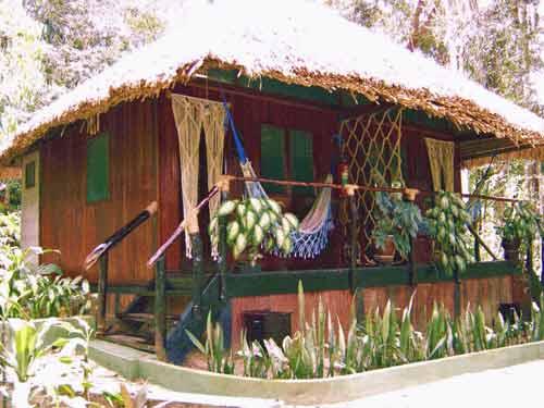 Dschungellodge mit Veranda
