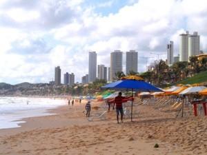 Strand vor der Skyline von Natal