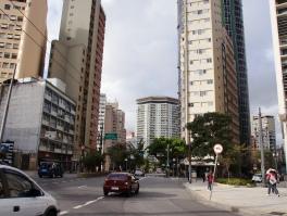Sao Paulo Brasilien Straße im Zentrum der Stadt