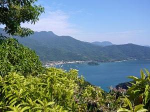 Aussicht Bucht Paraty Brasilien