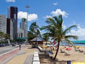 Der Stadtstrand von Boa Viagem in Recife