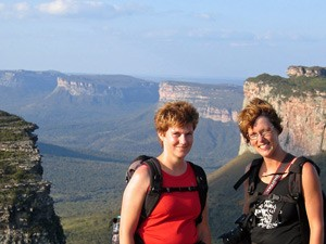 Zwei Touristinnen in der Chapada Diamantina