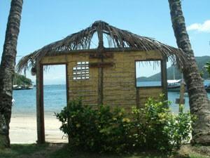 Hier legt die Fähre zur Ilha Grande an
