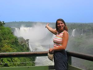 Blick auf die Wasserfälle