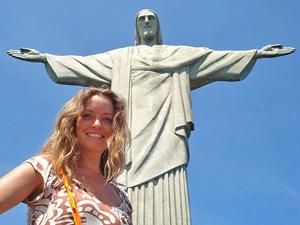 Luxureise Brasilien Christusstatue Rio de Janeiro