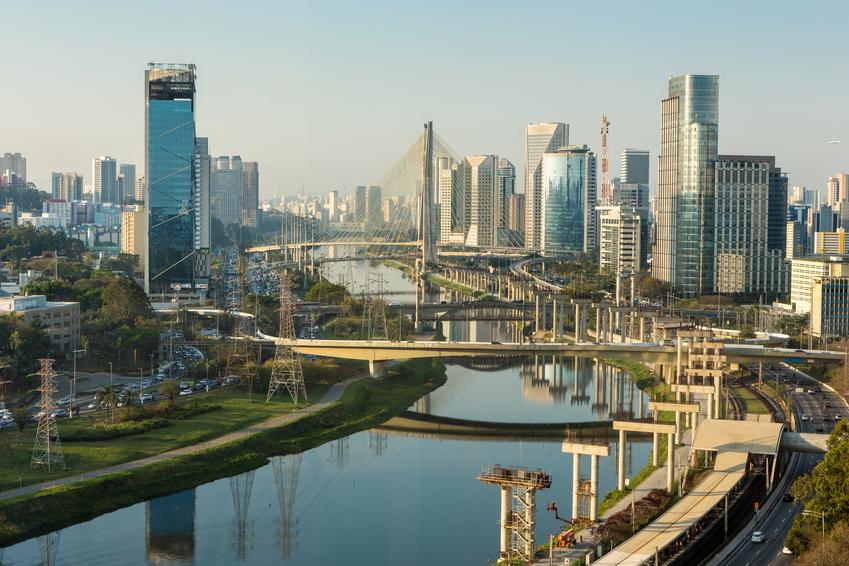 Sao Paulo Brasilien Sykline