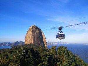 Seilbahn am Zuckerhut in Rio de Janeiro bei Brasilien Reise
