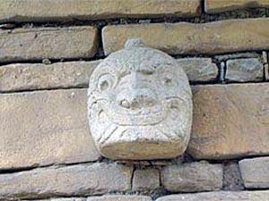 Chavin hoofd - reizen Peru