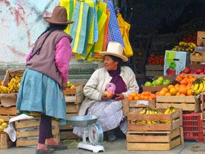 Markt Huaraz - Peru reizen