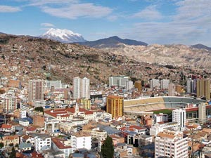 Uitzicht over La Paz - Bolivia