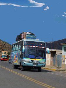 vervoer met de bus in Peru