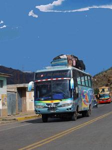 Bolivia vervoer overland - bus