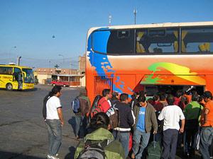 Bus station Peru