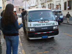 Combi busje - Peru rondreis