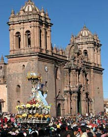Processie in Cusco - Peru