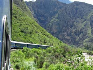 Treinrit tussen Cusco en Machu Picchu