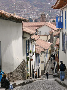 Steile smalle straatjes - San Blas