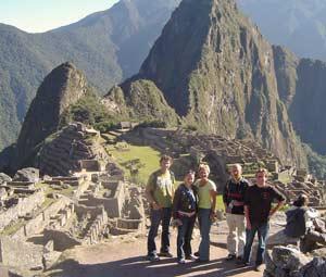 Familie Eggink bij Machu Picchu - Peru