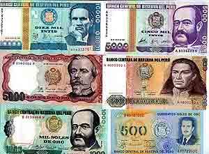 Peruaans geld - Peru geld