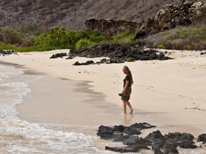 Strand Galapagos eiland - rondreis Peru