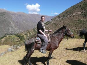 Paardrijden door de Heilige vallei