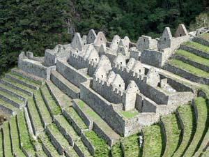 Inca Trail - uitzicht Machu Picchu