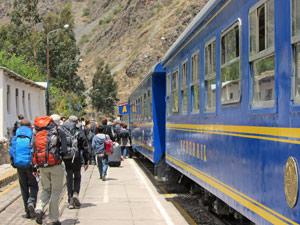 Machu Picchu trekking - trein