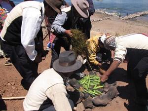 Pachamanca Titicaca meer