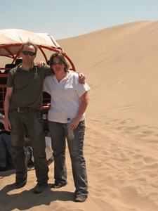 Richard en Karen in Huacachina Peru