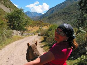 Paardrijden in Ollantaytambo
