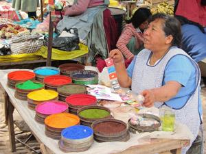 Pisac markt Ollantaytambo